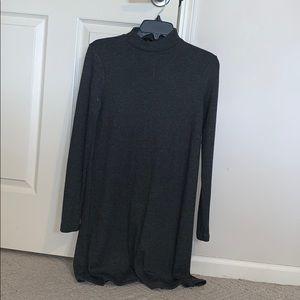 Mid-Thigh Length Long-Sleeved Winter Dress